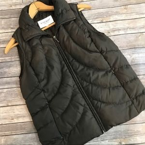 Nine West Women's Brown Puffer Vest, Size Small